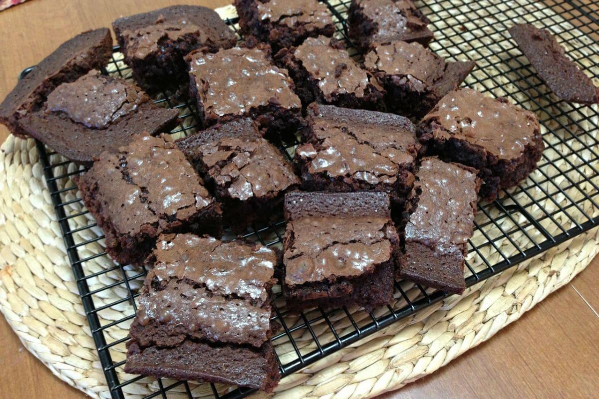 Brownies de remolacha y nueces