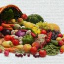 Cesta de verduras variadas