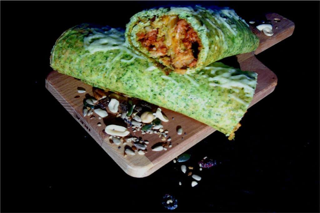 Burrito Mexicano de brocoli (burrito paleo)