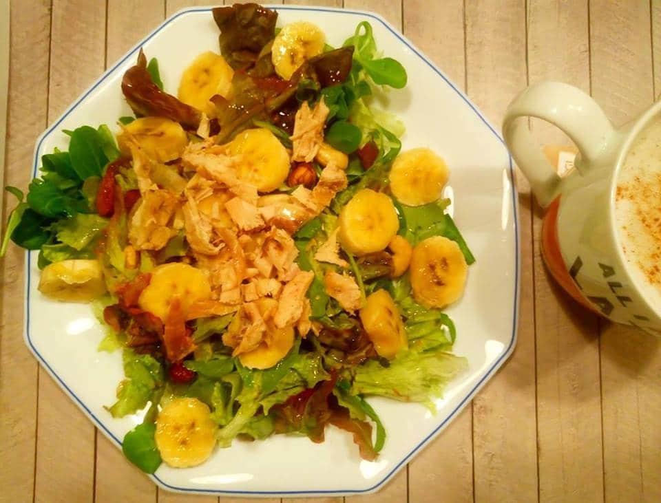 ensalada verde con pollo
