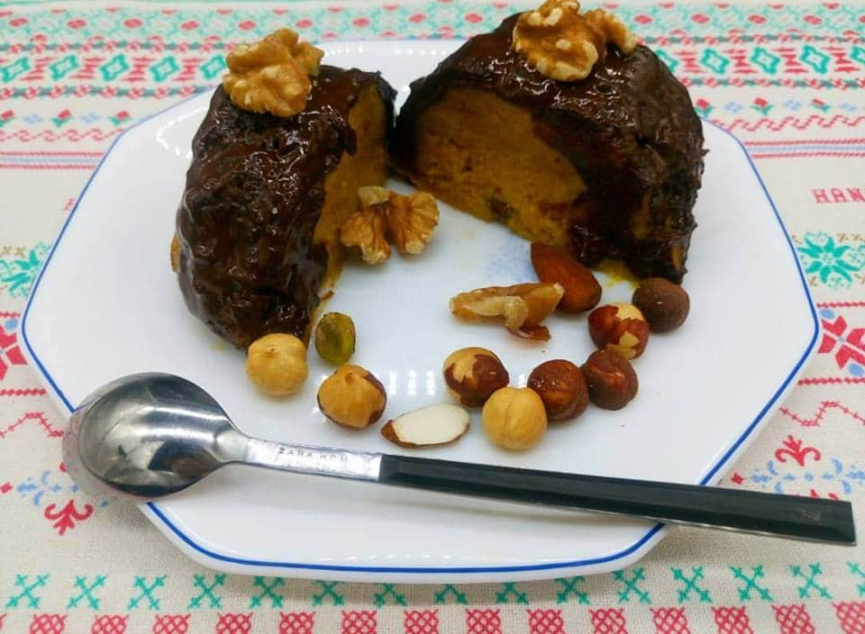 mug cake de calabaza y chocolate