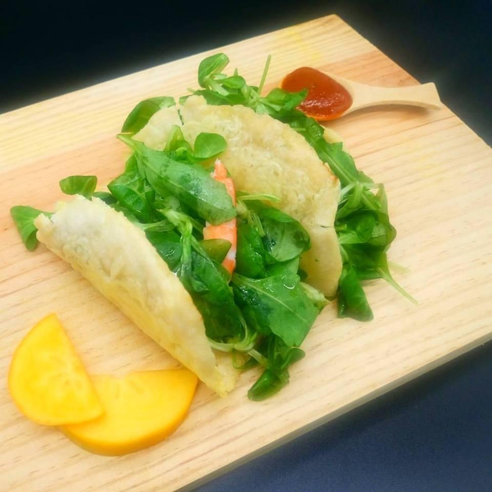 Tacos mexicanos de gambas