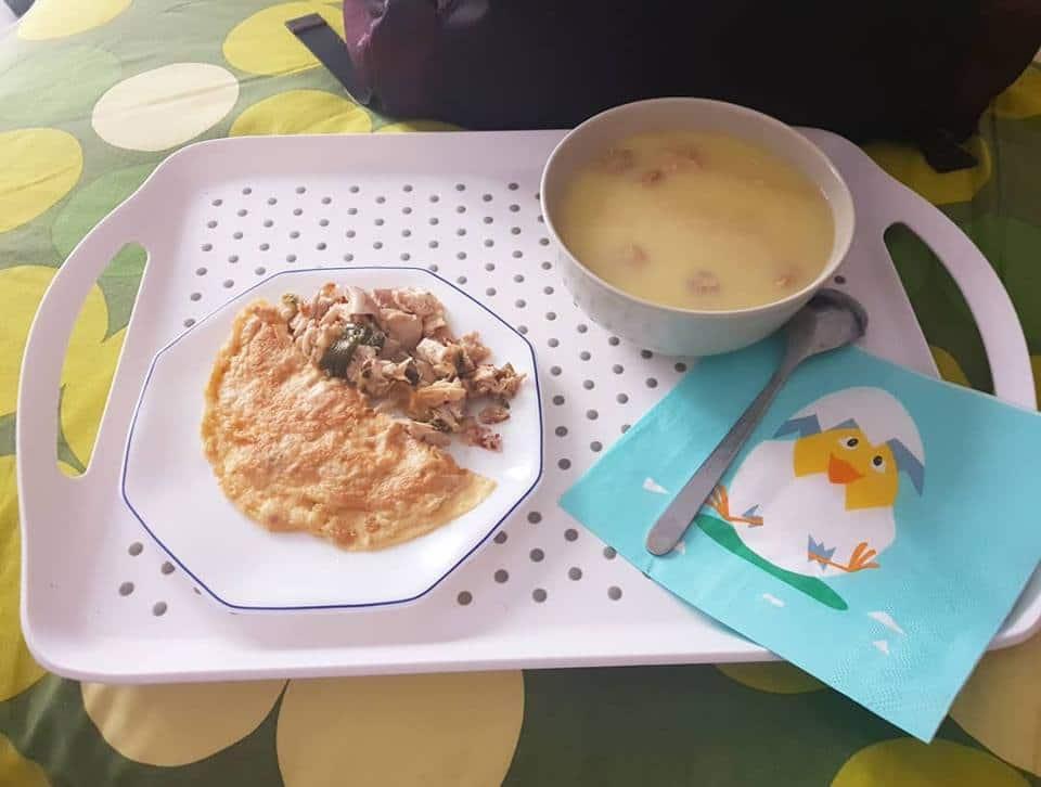 crema de puerros y tortilla