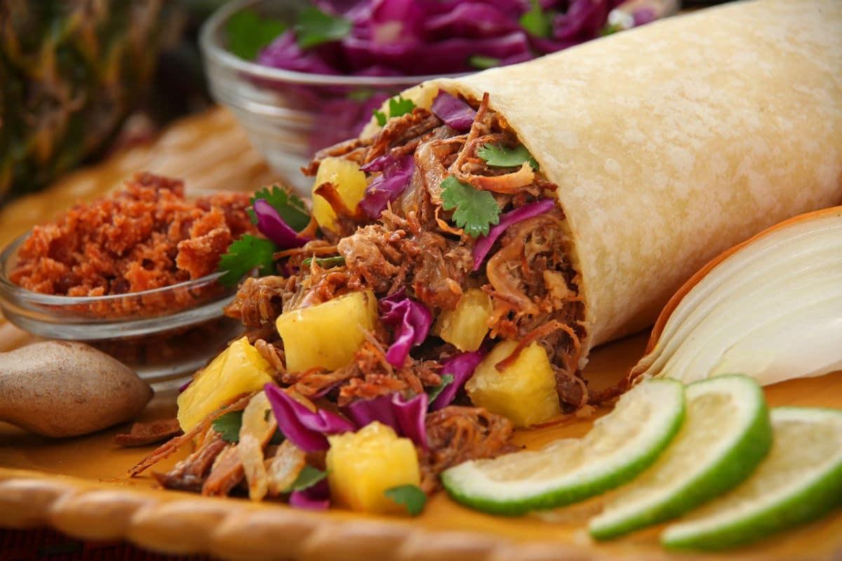 Burritos de carne de ternera mechada (sin gluten, sin lactosa)