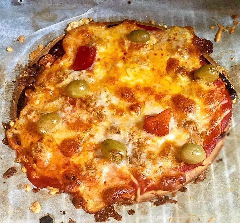 Pizza con base de patata (sin gluten y sin azúcar)