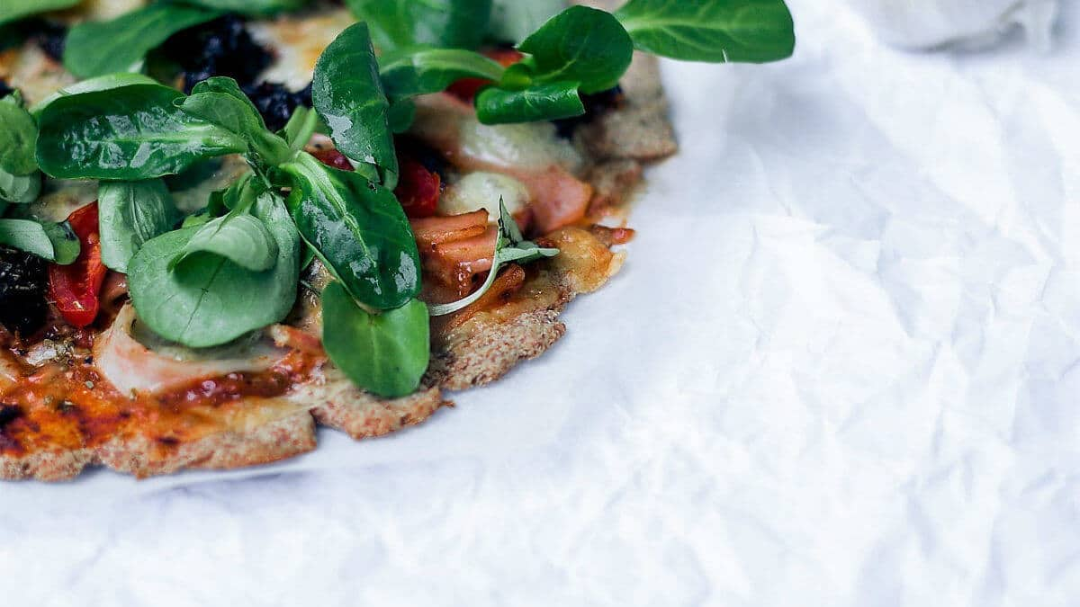 Flatbread mediterráneo sin gluten