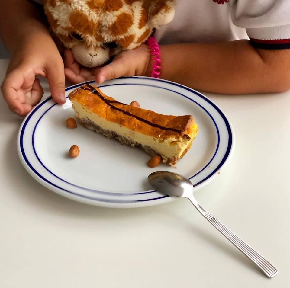trozo pastel queso