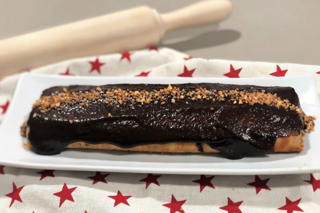 Brazo de gitano con crema de chocolate (sin gluten)