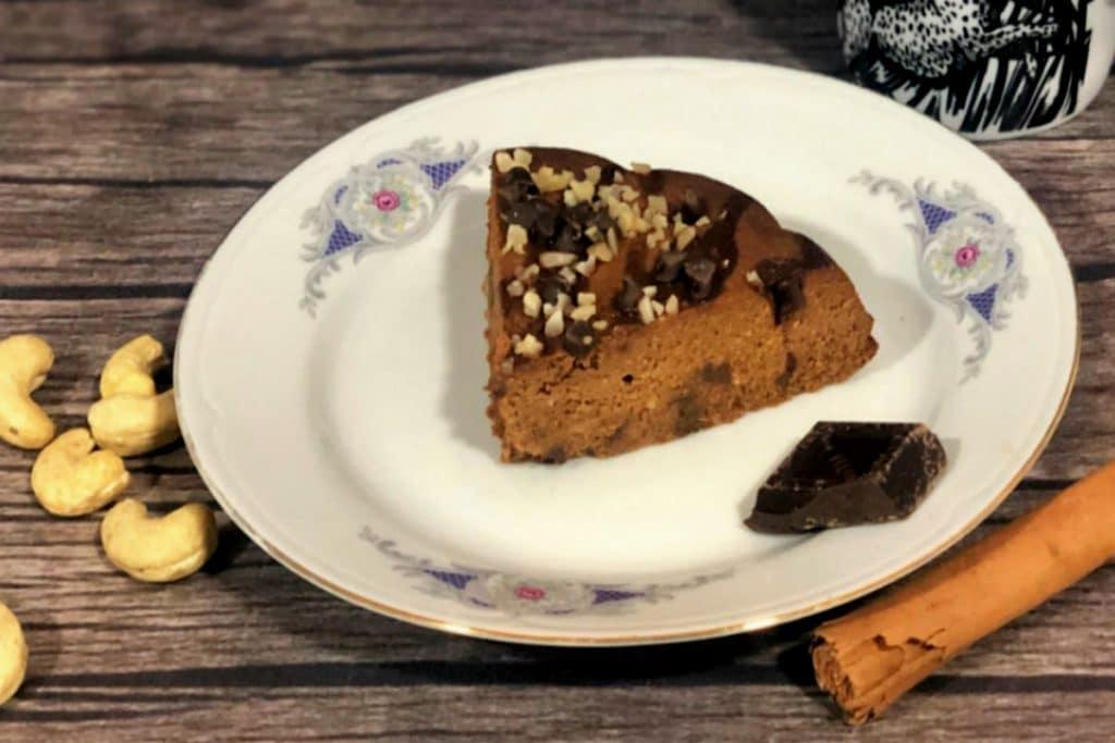 Pastel de calabaza y chocolate negro (adaptable a dietas keto)