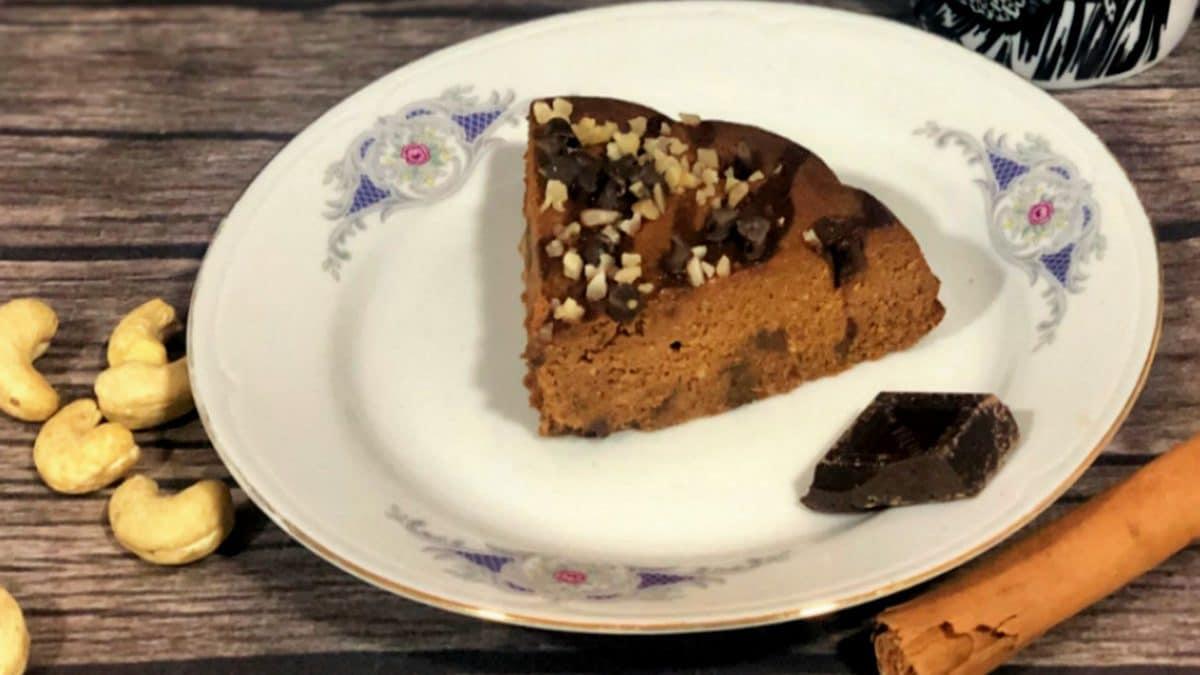 pastel de calabaza y chocolate negro