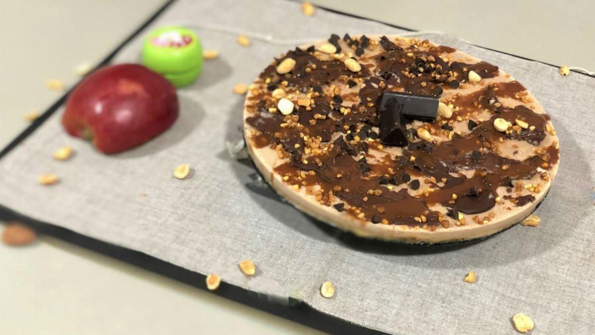 tarta de café y chocolate negro