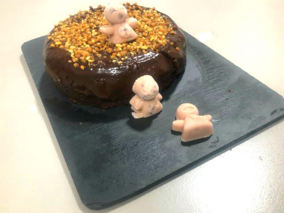 tarta calabacín y chocolate