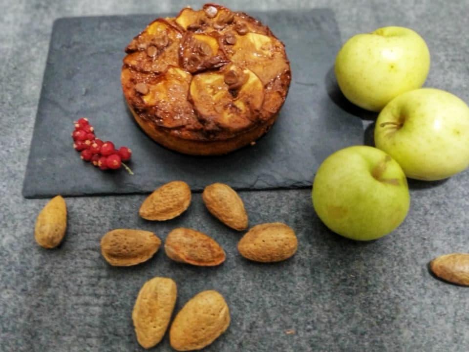 tarta de almendras y manzanas