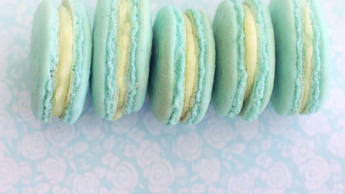 macarons azules