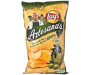 Bolsa de patatas Lays Artesanais (cambio de nombre tras la sentencia judicial)