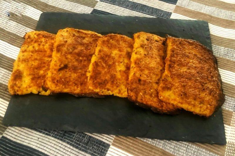 Pan de ajo keto (base coliflor)