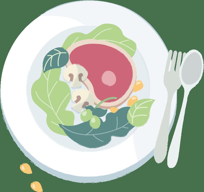 Ilustración plato comida